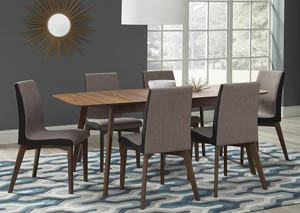 Image for Natural Walnut Dining Table w/6 Side Chairs
