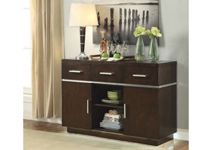 Image for Dark Walnut Lincoln Contemporary Server