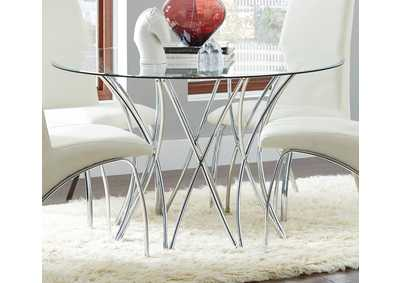 Chrome Dining Table.