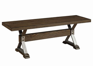 Dark Ash Wood Bench