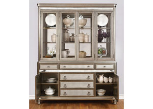 Metallic Platinum China Cabinet