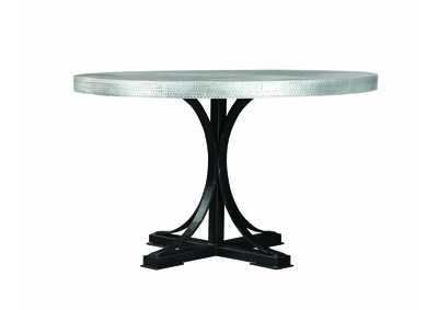 Silver/Black Dining Table
