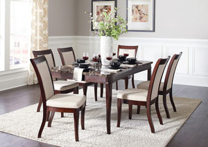 Dark Brown Dining Table w/4 Side Chairs