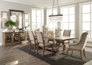 Glen Cove Barley Brown Dining Table