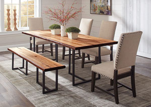 Natural Honey Dining Bench