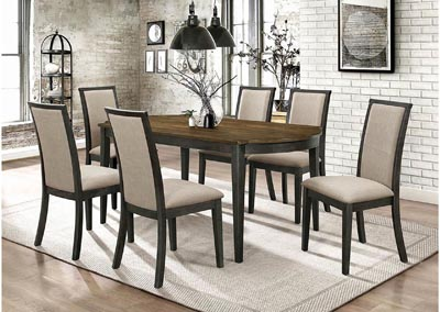 Brownish Green Upholstered Dining Chair (Set of 2)