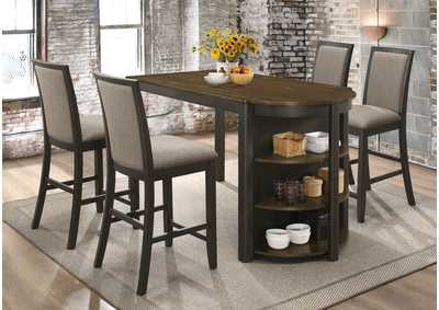 Clarksville Burnt Amber & Charcoal 5 Piece Dining Set