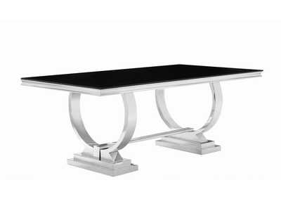 Black/Chrome  Dining Table