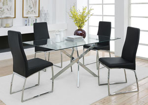 Chrome Dining Table,Coaster Furniture