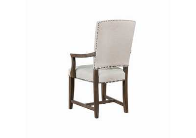 Rice Gray/Island Khaki Arm Chair (Set of 2)