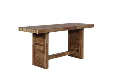 Varied Natural Counter Height Table
