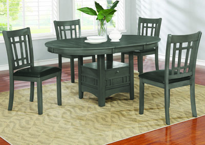 Lavon Medium Grey 5 Piece Dining Set