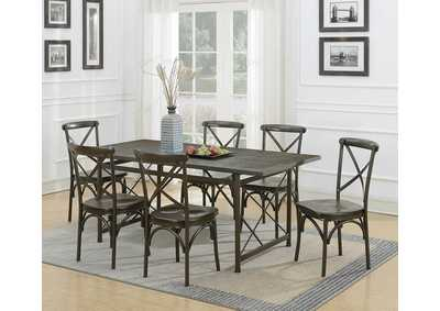Hawthorne Chic Brown Dining Table