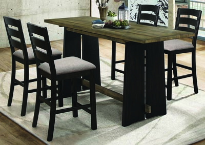 Khaki & Black Oakley 5 Piece Dining Room Set