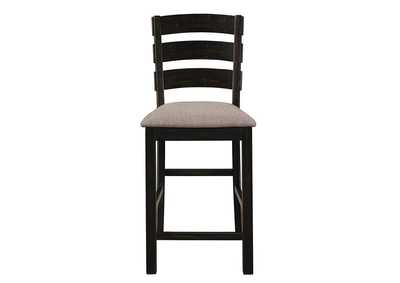 Oakley Oatmeal and Black Counter Stool (Set of 2)