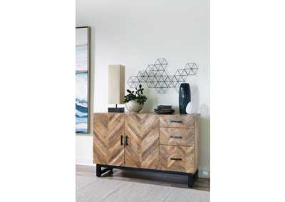 Image for Springdale Natural Mango Server With Chevron Pattern