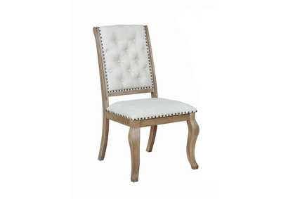 Image for Brockway Barley Brown & Cream Tufted Side Chairs [Set of 2]