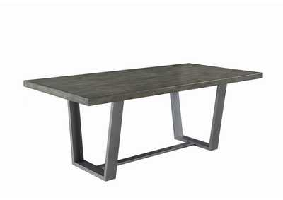Brockway Aged Concrete Dining Table,Coaster Furniture