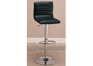 Black & Chrome Bar Stool (Set of 2)