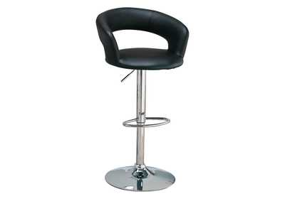 Black & Chrome 29in Bar Stool