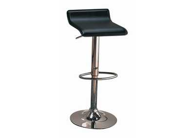 Black Adjustable Bar Stool (Set of 2)