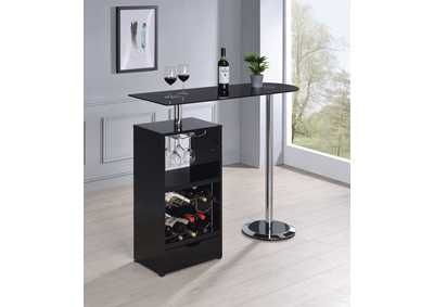 Black Revolving Bar Table