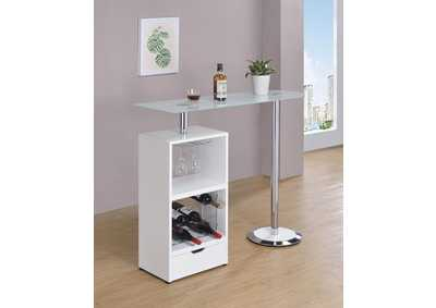 White Revolving Bar Table