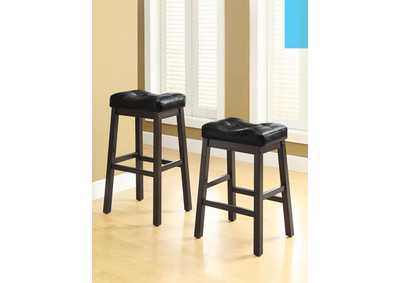 Sofie Black & Dark Cherry 24in Bar Stool (Set of 2)