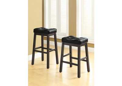 Sofie Black & Dark Cherry 29in Bar Stool (Set of 2)