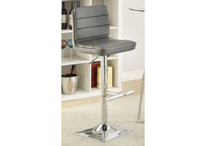 Grey Adjustable Bar Stool (Set Of Two)