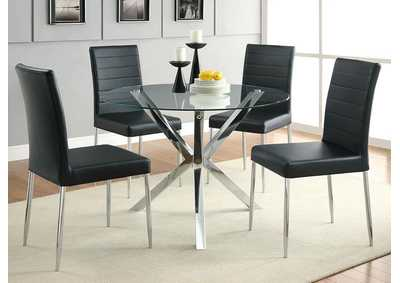 Black & Chrome Chair (Set of 4)