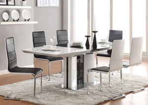 Broderick Modern White Dining Table