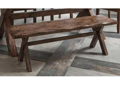 Alston Rustic Knotty Nutmeg Bench