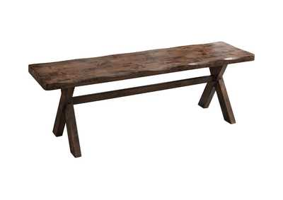 Image for Knotty Nutmeg Alston Rustic Knotty Nutmeg Dining Bench