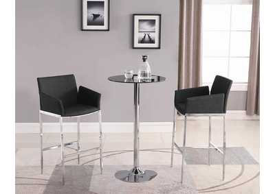 Black Bar Table (Black Glass)