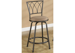Brown & Black Bar Stool (Set of 2)