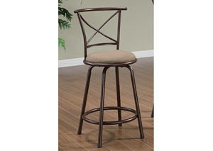 Brown & Brown Bar Stool (Set of 2)