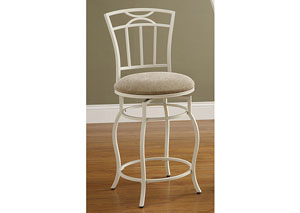 Cream & White Bar Chair