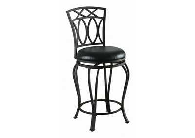 Image for Upholstered Swivel Counter Height Stool Black