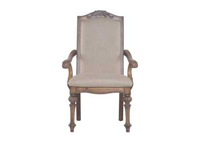 Antique Linen Arm Chair (Set of 2)