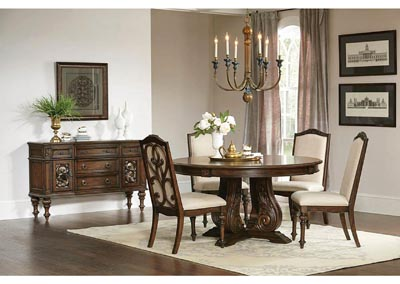 Ilana Antique Java Round Dining Table