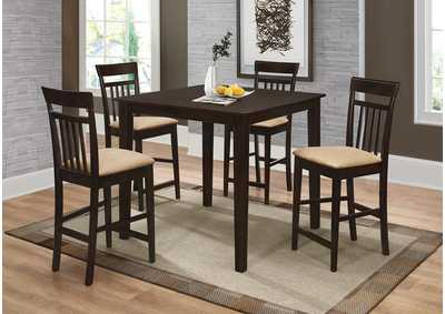 Counter Height Table/Chair 5 Piece Set
