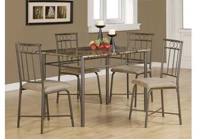 Image for Black Casual Grey Metal Five-Piece Dining Set