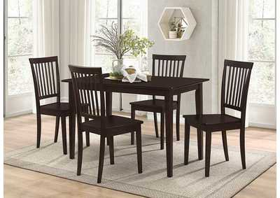 Oakdale Cappuccino Five-Piece Dinette Set