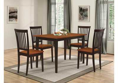 Oakdale Tobacco Five-Piece Dinette Set