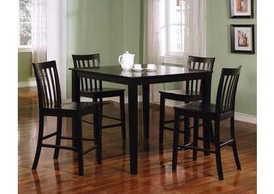 Black Five-Piece Dining Set