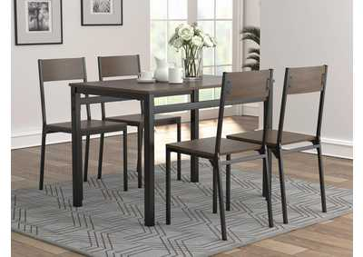 Brown 5 Piece Dining Set