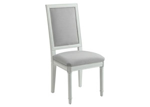 Hampshire White Upholstered Side Chair (Set of 2)