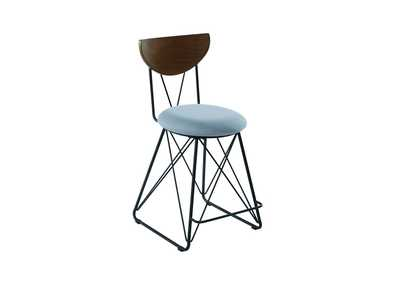 Image for Semicircle Back Counter Height Stools Black And Blue [Set of 2]
