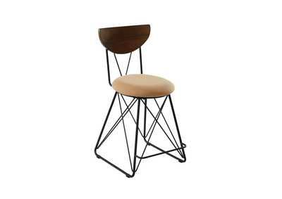 Image for Semicircle Back Counter Height Stools Black And Gold [Set of 2]